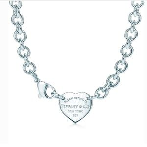 Return to Tiffany & Co. Heart Tag Necklace Choker